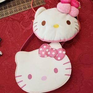 Two Hello Kitty girls purses